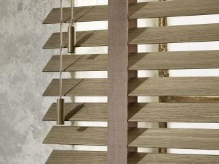 Detailansicht Bedienschnüre Holzjalousie