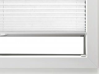 LEHA Plissee M5 in die Glasleiste verschraubt am Fensterfalz