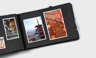 Fotoalbum als Ausgangsmaterial für individuell bedruckte Sonnenschutzprodukte
