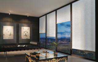 Plissee Fensterfalzmontage mit Ornament-Muster