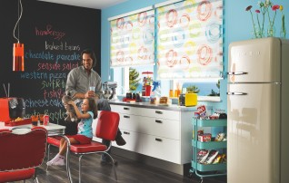Duorollo mit Stoff konfetti in Küche