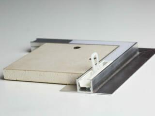 Deckenbündiges Aluminiumprofil TP-FLEX für Vorhänge und LED