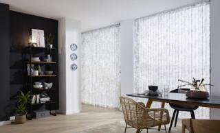 LEHA Sonnenschutz nach Maß Vertikaljalousie Stoff aus recyceltem Polyester